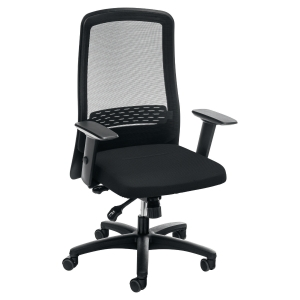 INTEROIS BLACK 16000MSH SYNCHRON MESH CHAIR WITH ARMS