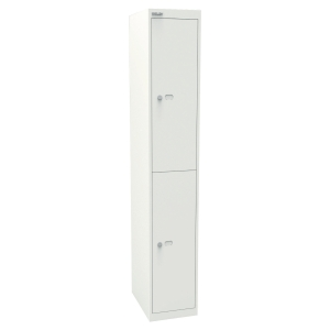 BISLEY CLK182 WHITE 2 COMPARTMENT LOCKER