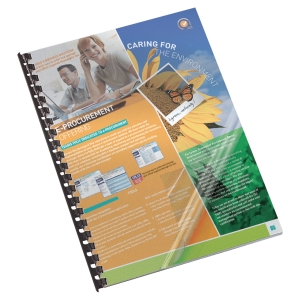LYRECO TRANSPARENT A4 PVC REPORT BINDING COVERS 200 MICRONS - BOX OF 100