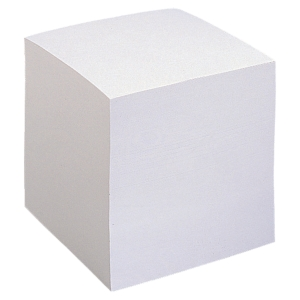 LYRECO WHITE PAPER CUBE REFILL 90 X 90MM - 850 LOOSE LEAF NOTES