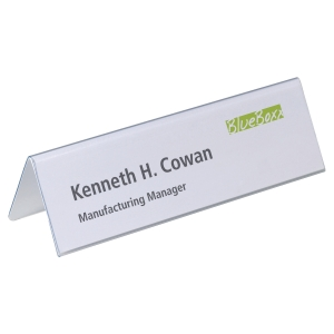 DURABLE PLACE NAME HOLDERS 216 X 61MM - PACK OF 25