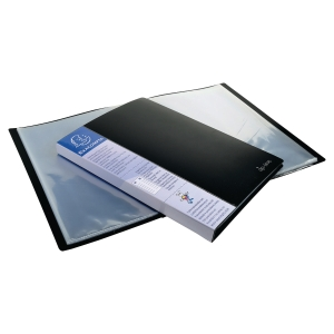 EXACOMPTA OPAQUE PP DISPLAY BOOK, 24X32CM, 20 POCKETS - BLACK