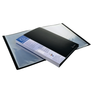 EXACOMPTA OPAQUE PP DISPLAY BOOK, 24X32CM, 40 POCKETS - BLACK