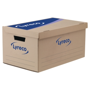 LYRECO WHITE STANDARD STORAGE BOX H250 X W327 X D415MM - BOX OF 10