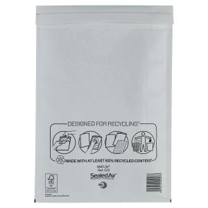 MAIL LITE WHITE POSTAL BAGS 220 X 330MM (8 3/5 X 13INCH) - BOX OF 50