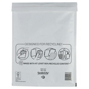 MAIL LITE WHITE POSTAL BAGS 240 X 330MM (9 1/2 X 13INCH) - BOX OF 50