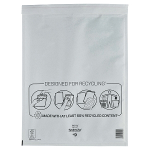 MAIL LITE WHITE POSTAL BAGS 350 X 470MM (13 3/4 X 18 1/2INCH) - BOX OF 50