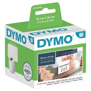 DYMO EL60/LW330 LABELS 70 X 54MM - WHITE DISKETTE - PACK OF 320