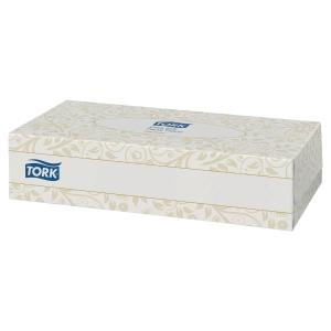 TORK FACIAL TISSUES - BOX OF 100 SHEETS