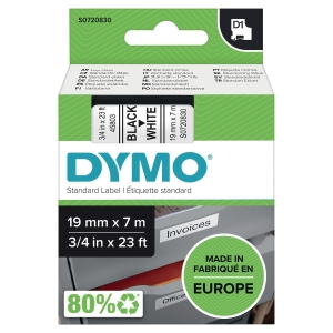 DYMO D1 LABELLING TAPE 7M X 19MM - BLACK ON WHITE