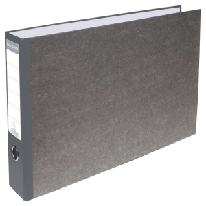 EXACOMPTA PREM TOUCH LEVER ARCH FILE, 32X48CM, A3, 80MM SPINE - GREY SPINE