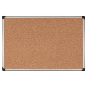 ALUMINIUM FRAMED CORK NOTICE BOARD 450MM X 600MM