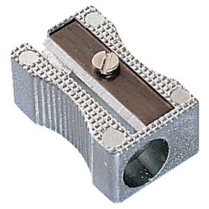 PENCIL SHARPENER - METAL WITH SINGLE OBLONG