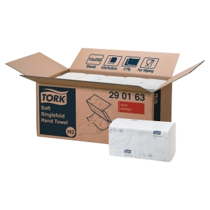 TORK XPRESS H3 WHITE 2 PLY SOFT SINGLE FOLD HAND TOWELS - PACK OF 15 X 250