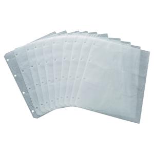 CD FILING POCKETS 6 CD CAPACITY - PACK OF  10