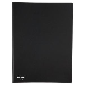 LYRECO BUDGET PP DISPLAY BOOK, A4, 30 POCKET/60 VIEWS - BLACK