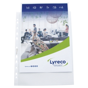 LYRECO PREMIUM A4 EXTRA WIDE PUNCHED POCKETS 120 MICRON - PACK OF 25