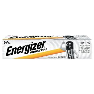 ENERGIZER INDUSTRIAL ALKALINE BATTERIES 6LR61/9V - PACK OF 12
