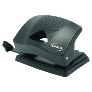 LYRECO 2 HOLE PAPER PUNCH BLACK - 20 SHEET CAPACITY