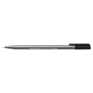 STAEDTLER 334 TRIPLUS FINELINER 0.3 BLACK BOX OF 10