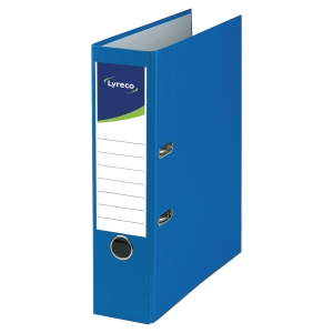 LYRECO RECYCLED BLUE A4 LEVER ARCH FILE 80MM - BOX OF 10