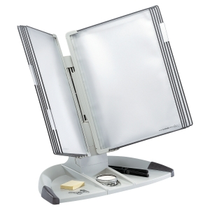 TARIFOLD GREY A4 10 POCKET DESK STAND