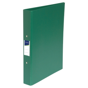 LYRECO PP RING BINDER, 2 O-RINGS, 32X25.5CM, A4, 40MM SPINE - GREEN