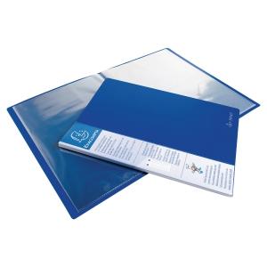 EXACOMPTA OPAQUE PP DISPLAY BOOK, 24X32CM, 20 POCKETS - BLUE