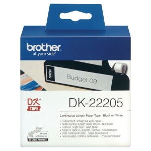 BROTHER DK 22205 PAPER TAPE LABEL 62MM X 30M WHITE