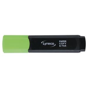LYRECO HIGHLIGHTER GREEN - BOX OF 10