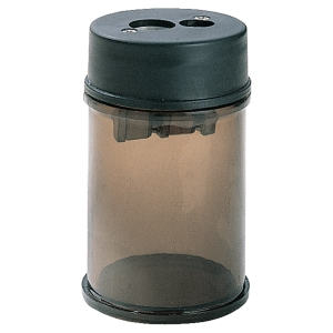 PENCIL SHARPENER - PLASTIC WITH DOUBLE HOLE