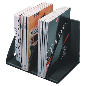 CEP BLACK MODULAR VERTICAL FILE SORTER/BOOK RACK - PACK OF 6