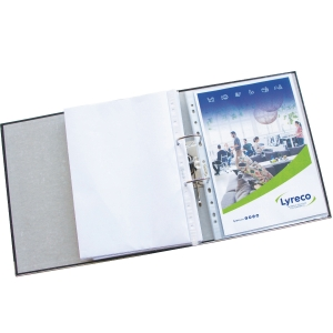 LYRECO PREMIUM A4 PUNCHED POCKETS 120 MICRONS - PACK OF 25