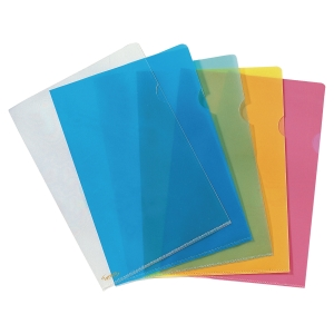 LYRECO PREMIUM BLUE A4 CUT FLUSH PLASTIC FOLDERS 150 MICRONS - PACK OF 25