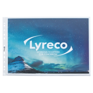 LYRECO A3 LANDSCAPE PUNCHED POCKETS 80 MICRONS - PACK OF 10