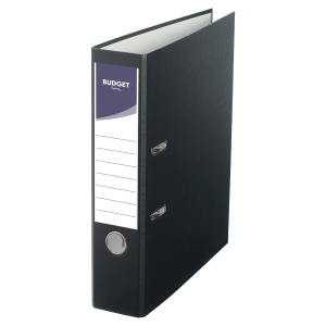 LYRECO BUDGET BLACK A4 LEVER ARCH FILE 75MM
