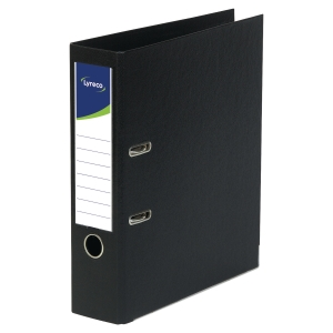 LYRECO POLYPROPYLENE BLACK FOOLSCAP LEVER ARCH FILES - BOX OF 10