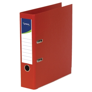 LYRECO POLYPROPYLENE RED FOOLSCAP LEVER ARCH FILES - BOX OF 10