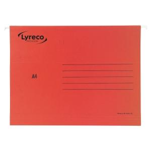 LYRECO PREMIUM RED A4 SUSPENSION FILES V BASE - BOX OF 25