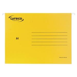LYRECO PREMIUM YELLOW A4 SUSPENSION FILES V BASE - BOX OF 25