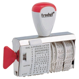 TRODAT 1117 STANDARD DIAL-A-PHRASE WITH DATE STAMP - 4MM CHARACTER SIZE