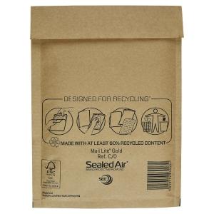 MAIL LITE GOLD POSTAL BAGS C0 150X215MM BOX OF 100