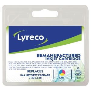 LYRECO INKJET CARTRIDGE COMPATIBLE HEWLETT PACKARD 344 C9363 3 COLOUR