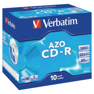 VERBATIM CD-R 80MIN 700MB JEWELCASE - PACK OF 10