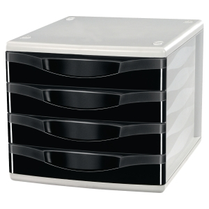 LYRECO 4 DRAWER UNIT BLACK