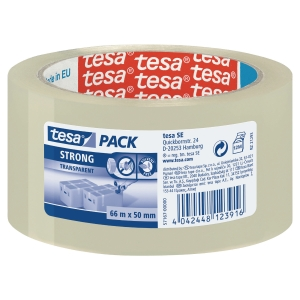 TESA TRANSPARENT PACKAGING TAPE 50MM X 66M - 52 MICRONS - PACK OF 6