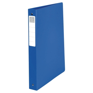 EXACOMPTA PP OPAQUE RING BINDER, 32X26.8CM, 2 O-RINGS, 40MM SPINE - BLUE