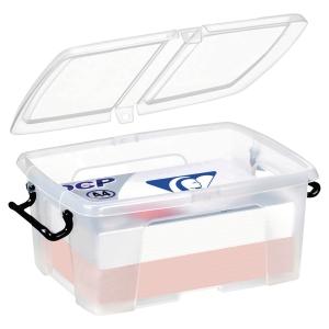 STRATA CLEAR 12 LITRE SMART STOREMASTER BOX WITH LID L400 X W225 X H170MM