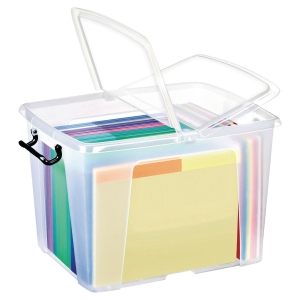 STRATA CLEAR 40 LITRE SMART STOREMASTER BOX WITH LID L500 X W395 X H320MM