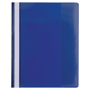 EXACOMPTA PVC TRANSFER FILE, A4 MAXI - BLUE, PACK OF 10